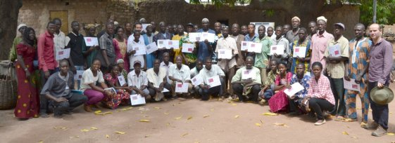 Figure 1. Fertility trials restitution event, Sukumba (Mali) held 10/30/2015 by the STARS project