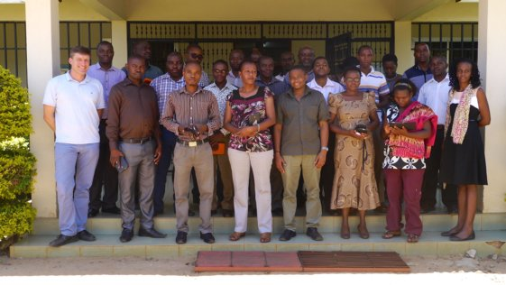 Participants of the GeoODK mobile field data collection workshop on March 19th 2015 at the Sokoine University of Agriculture campus in Morogoro, Tanzania.
